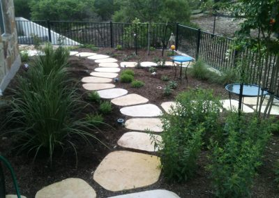 Backyard Garden and Path