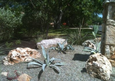 Desert Garden with Tumbled Glass