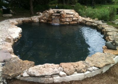 Raised Pond and Waterfall